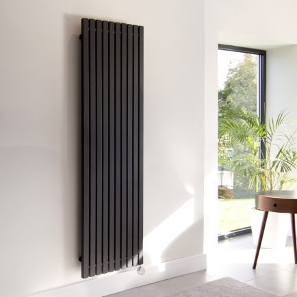 Ecostrad Adesso Vertical Designer Electric Radiators - Black
