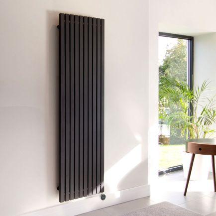 Ecostrad Adesso iQ WiFi Vertical Designer Electric Radiators - Black