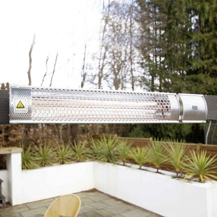 Ecostrad Sunglo Infrared Patio Heater - Silver