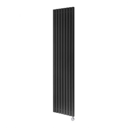 Ecostrad Adesso Vertical Designer Electric Radiator - Black 1000w (390 x 1600mm)