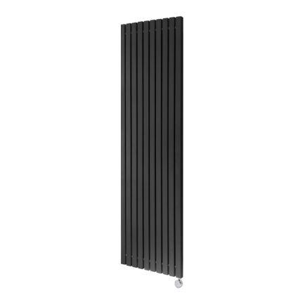 Ecostrad Adesso Vertical Designer Electric Radiator - Black 1200w (490 x 1600mm)