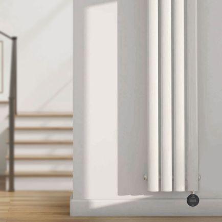 Ecostrad Allora iQ WiFi Vertical Designer Electric Radiator - White Double Panel