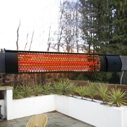 Ecostrad Sunglo Infrared Patio Heater - Black