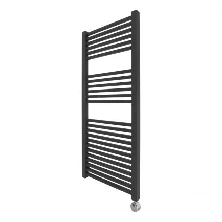Ecostrad Cube Thermostatic Electric Towel Rail - Anthracite 600w