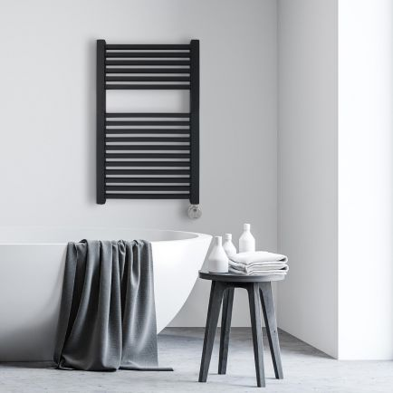 Ecostrad Cube Thermostatic Electric Towel Rail - Anthracite