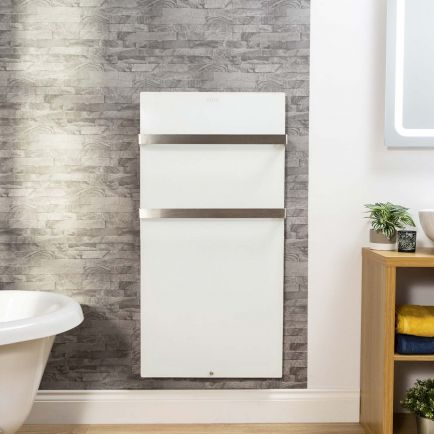 Cürv Infrared Towel Rails – White