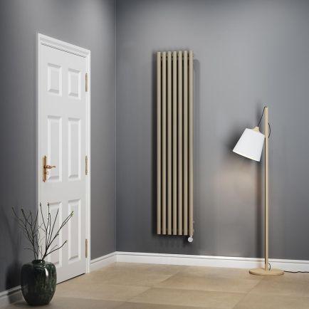 Terma Rolo E Vertical Designer Electric Radiator – Quartz Mocha