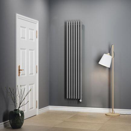 Terma Rolo E Vertical Designer Electric Radiators - Salt 'n' Pepper