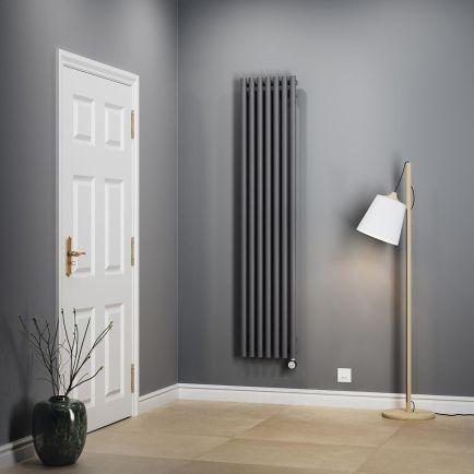 Terma Rolo E Vertical Designer Electric Radiators – Modern Grey