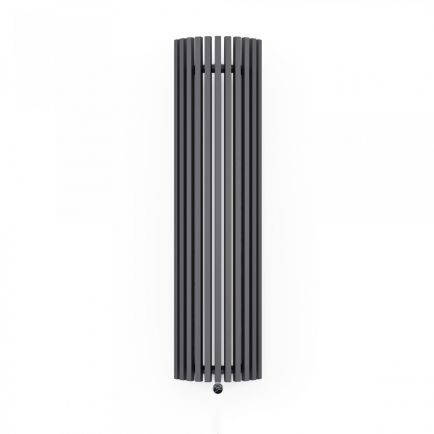 Terma Triga E AW Vertical Designer Electric Radiator - Curved Anthracite 1200w (430 x 1700mm)