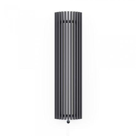 Terma Triga E AW Vertical Designer Electric Radiator - Curved Anthracite 1200w (430 x 1900mm)