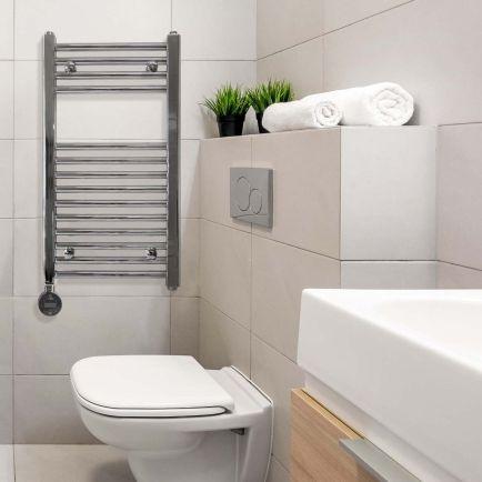 Ecostrad Fina-E iQ WiFi Smart Electric Towel Rail - Chrome