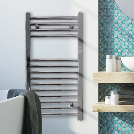 Ecostrad Fina-E Electric Towel Rail - Chrome