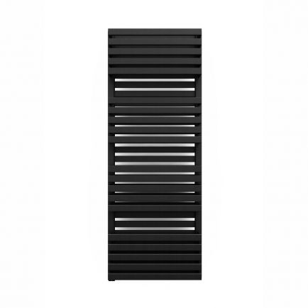 Terma Quadrus Bold ONE Designer Electric Towel Rail - Black 800w (450 x 1185mm)
