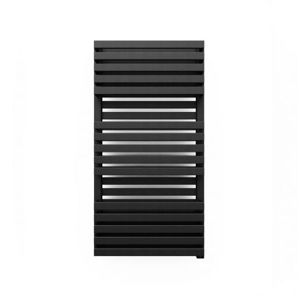 Terma Quadrus Bold ONE Designer Electric Towel Rail - Black 600w (450 x 870mm)