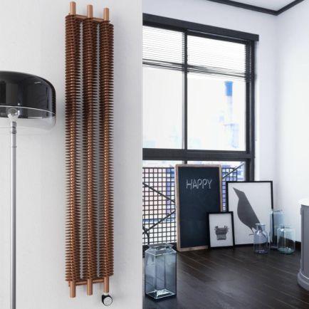 Terma Ribbon V E Designer Electric Radiator - Copper