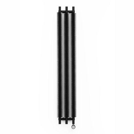 Terma Ribbon V E Vertical Designer Electric Radiator - Black 600w