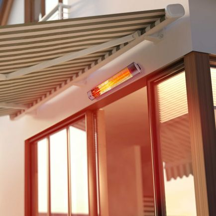 Ecostrad Solaglo Infrared Patio Heater – Silver 2kW
