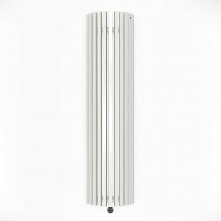 Terma Triga E AW Vertical Designer Electric Radiator - Curved White 1200w (430 x 1700mm)