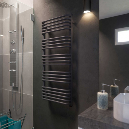 Terma Alex ONE Designer Electric Towel Rails - Grey