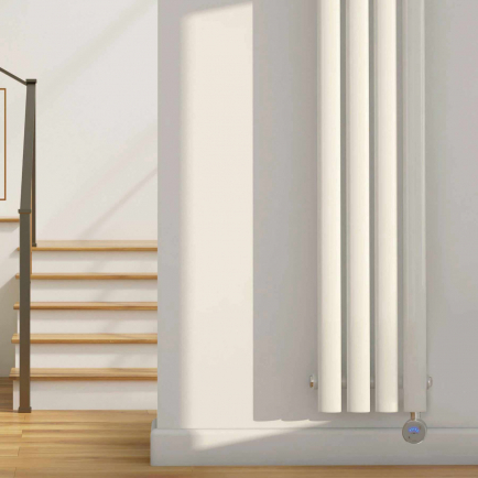 Ecostrad Allora Vertical Designer Electric Radiators - White Double Panel