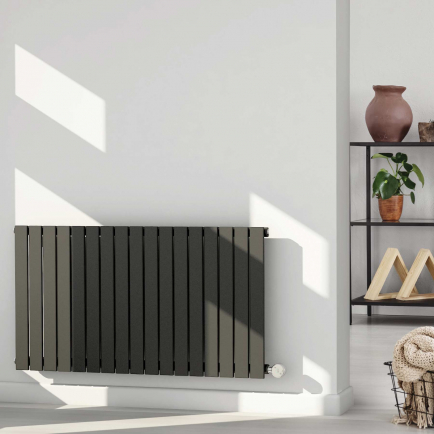 Ecostrad Ascoli Designer Electric Radiator - Anthracite