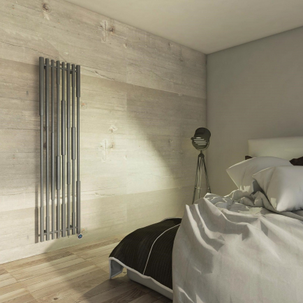 Terma Cane E Vertical Designer Electric Radiators - Anthracite
