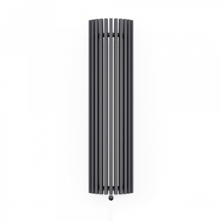 Terma Triga E AW Vertical Designer Electric Radiator - Curved Anthracite 1200w (430 x 1900mm)