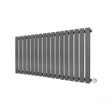 Ecostrad Ascoli Designer Electric Radiator - Anthracite 1000w (1190 x 635mm)