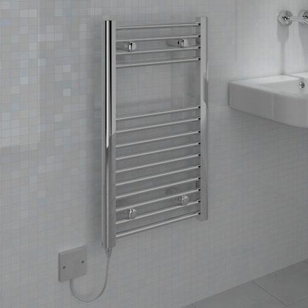 Ecostrad Fina-E Electric Towel Rail - Chrome 150w (400 x 700mm)