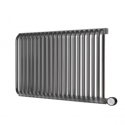 Terma Delfin E Designer Electric Radiator - Anthracite 1200w (1020 x 640mm)