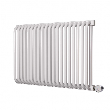 Terma Delfin E Designer Electric Radiator - White 1000w (820 x 640mm)