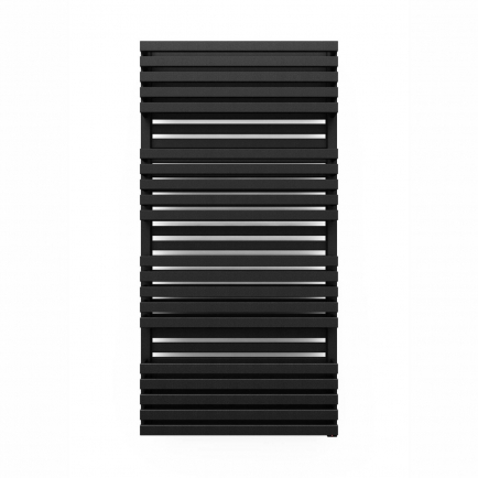 Terma Quadrus Bold ONE Designer Electric Towel Rail - Black 1000w (600 x 1185mm)
