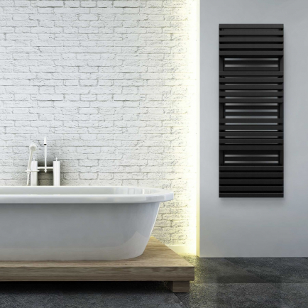 Terma Quadrus Bold ONE Designer Electric Towel Rails - Black