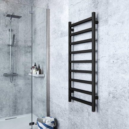 Terma Simple ONE Designer Electric Towel Rails - Black