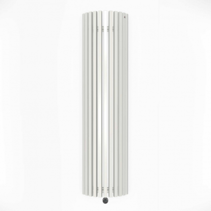 Terma Triga E AW Vertical Designer Electric Radiator - Curved White 1200w (430 x 1700mm)