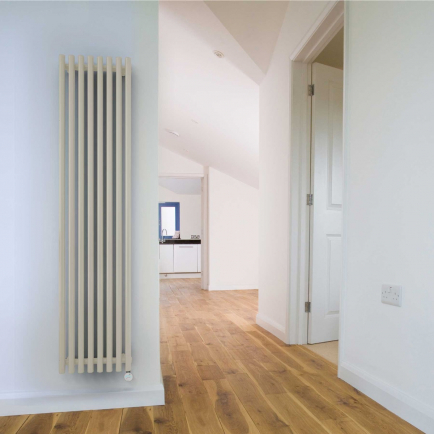 Terma Tune E Vertical Designer Electric Radiators - White