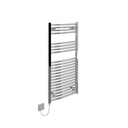 Ecostrad Fina-E Electric Towel Rail - Curved Chrome 250w (500 x 1100mm)