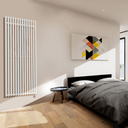 Terma Triga E Vertical Designer Electric Radiators - White