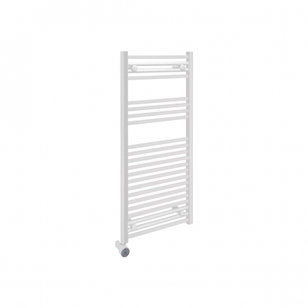 Ecostrad Fina-E Thermostatic Electric Towel Rail - White 300w (500 x 1100mm)