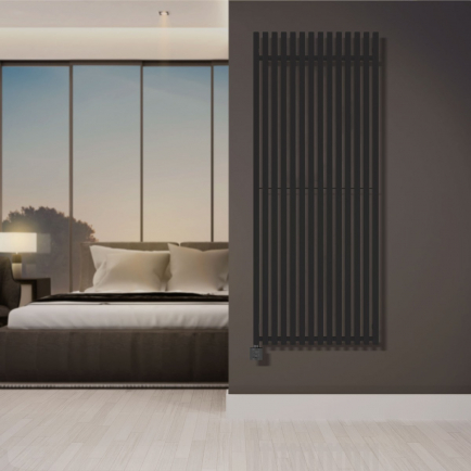 Terma Triga E Vertical Designer Electric Radiators - Anthracite