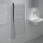 Ecostrad Fina-E Electric Towel Rail - Chrome 250w (500 x 1100mm)