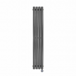 Ecostrad Allora Vertical Designer Electric Radiator - Anthracite Double Panel 1200w (236 x 1780mm)