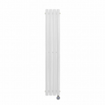 Ecostrad Allora Vertical Designer Electric Radiator - White Double Panel 1200w (236 x 1600mm)