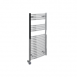 Ecostrad Fina-E Thermostatic Electric Towel Rail - Curved Chrome 300w (500 x 1100mm)