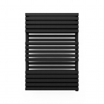 Terma Quadrus Bold ONE Designer Electric Towel Rail - Black 800w (600 x 870mm)
