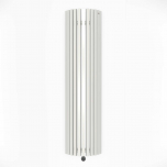 Terma Triga E AW Vertical Designer Electric Radiator - Curved White 1200w (430 x 1900mm)