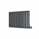 Terma Triga E Designer Electric Radiator - Anthracite 1000w (1280 x 560mm)
