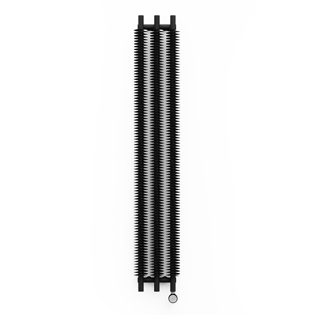Buy Electric Radiators With Free Delivery Wiring Towel Rail Terma Ribbon V E Black