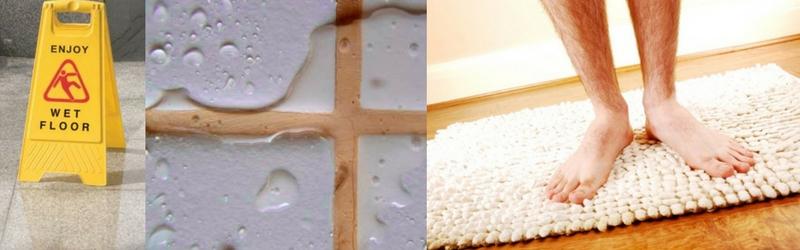 Don't fall, get a shower mat!